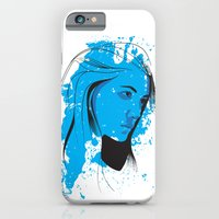 iPhone & iPod Case featuring Black, blue & white II by Chris Bliss