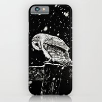iPhone & iPod Case featuring Snowfall at Night (Owl) by Nathan Cole