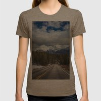 The Mountains are Calling Womens Fitted Tee Tri-Coffee SMALL