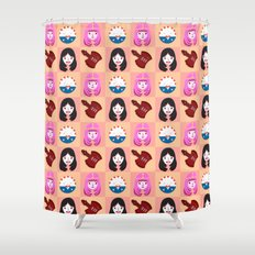 Marcelline & Bubblegum Shower Curtain