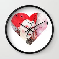 The Queen of Hearts Wall Clock