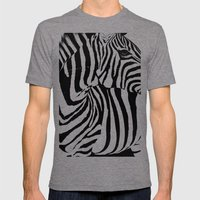 Rectanglebra Mens Fitted Tee Tri-Grey SMALL
