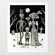 Family Portrait Of The P… Art Print