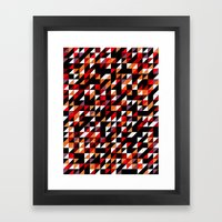 Sumi Retro Quilt Framed Art Print