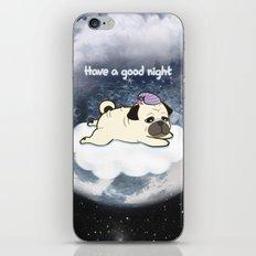Sleepy Little Pug iPhone & iPod Skin