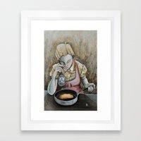 I keep making the same omelette Framed Art Print
