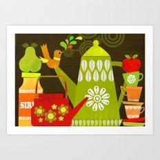 retro kitchen Art Print