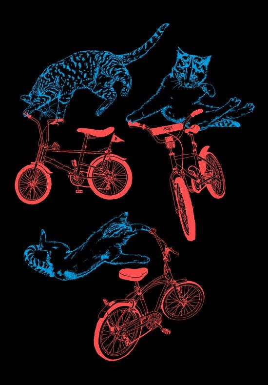 Cats on Bikes Canvas Print