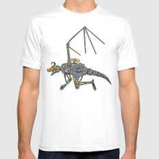 Clockwork Dragon Mens Fitted Tee SMALL White