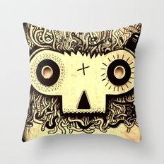 Wormface Throw Pillow