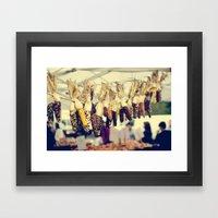 Indian Corn At The Farme… Framed Art Print