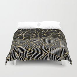 Duvet Cover - Ab Half and Half Gold - Project M