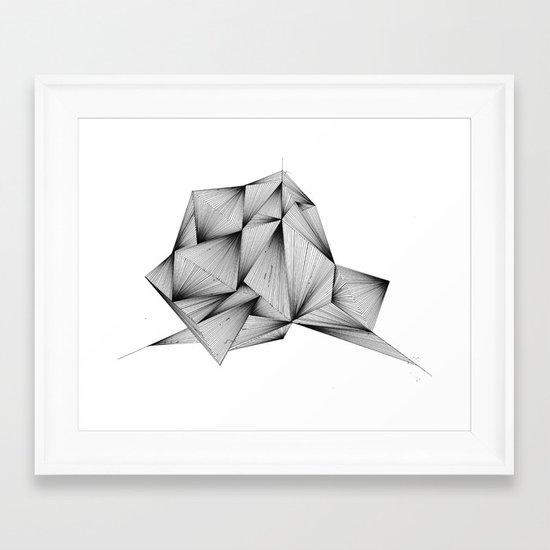 Structure (XYZ) Framed Art Print