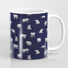 Indian Baby Elephants in Navy Mug