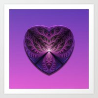 Purple Heart Art Print