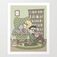 book lovers Art Print