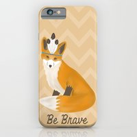 iPhone & iPod Case featuring Be Brave - Fox Native by Teacuppiranha