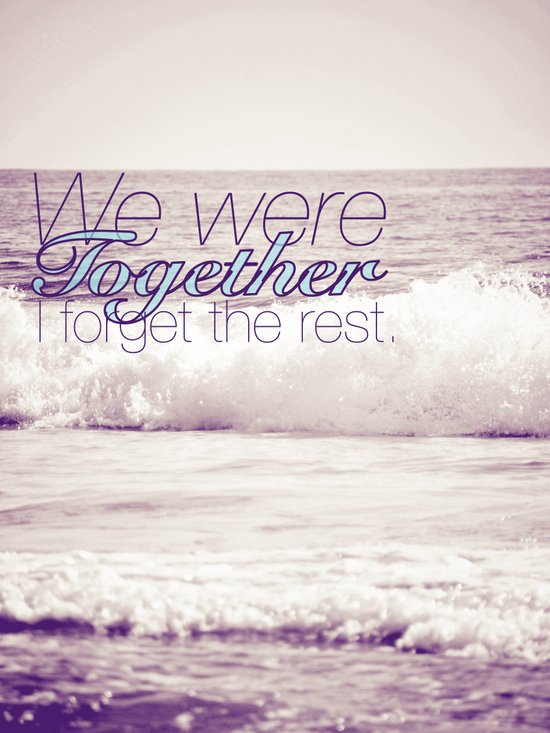 We Were Together Art Print
