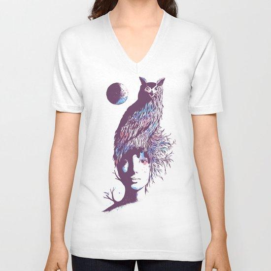 Night Watcher V-neck T-shirt