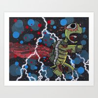 My Love For You Is A Zom… Art Print