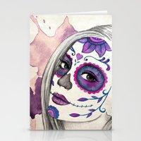 Sugar Skull Girl Stationery Cards