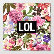 Canvas Print featuring LOL by Text Guy