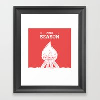 Pitch Season (Burning We… Framed Art Print