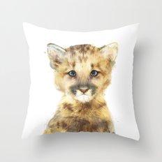 Little Mountain Lion Throw Pillow