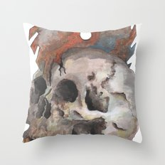 Inked up Skull Throw Pillow