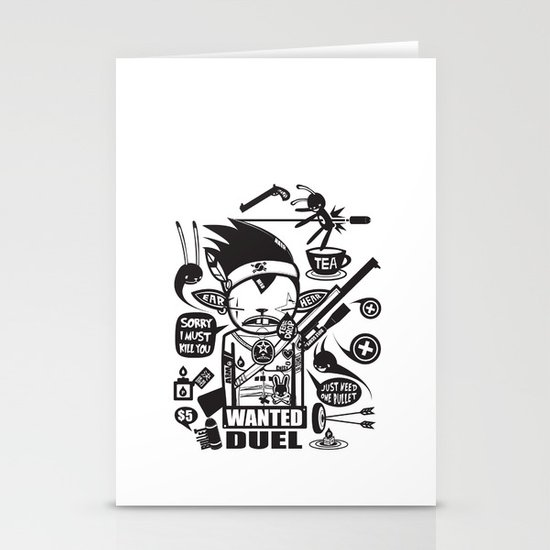SORRY I MUST KILL YOU ! - DUEL Stationery Card