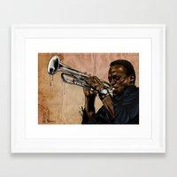 Miles, Jazz Will Never B… Framed Art Print
