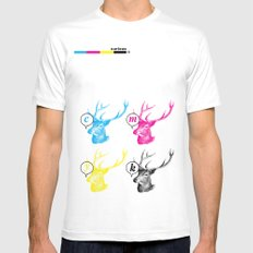 Unnatural Colors White Mens Fitted Tee SMALL