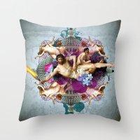 Kaleidoscope Man Throw Pillow