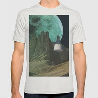 Månen (Luna) Mens Fitted Tee Silver SMALL