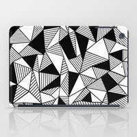 Ab Lines With Black Bloc… iPad Case