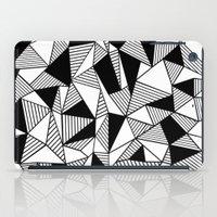Ab Lines with Black Blocks iPad Case
