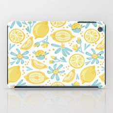 Lemon pattern White iPad Case