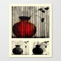 Vase Collage (focal) Canvas Print