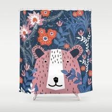 Bear Garden Shower Curtain