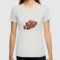 Clown Fish Womens Fitted Tee Silver SMALL