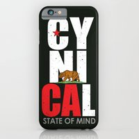 iPhone & iPod Case featuring CyniCAl - white by Amanda Jonson