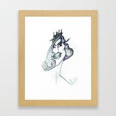 Unfinished Girl Framed Art Print