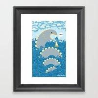 serpent surprise Framed Art Print