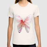 Light pink azalea or rhododendron flower. floral botanical garden photography. Womens Fitted Tee Natural SMALL