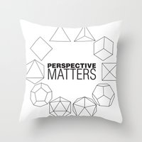 Perspective Matters Throw Pillow