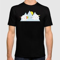Cloud Fight Mens Fitted Tee Black SMALL