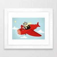 Flying Tapir Framed Art Print