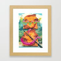 CHILLED CHEESE Framed Art Print