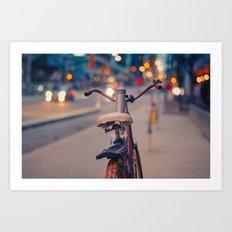 Rusty bike Art Print