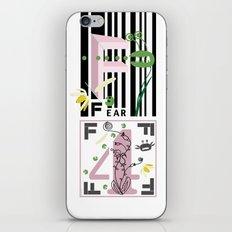 Four Freedoms Barcode Black iPhone & iPod Skin